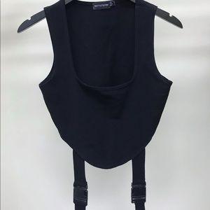 Black buckle top